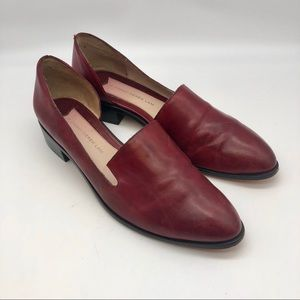 10 CROSBY DEREK LAM /  Red Cut-Out Heeled Loafer